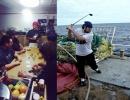 Poker a golf na rybářské lodi
