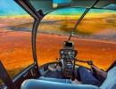 Gejzír v Yellowstone z helikoptéry