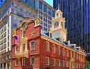 Jedna z nejstarších budov USA se krčí v Bostonu mezi mrakodrapy