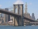 Brooklynský most v New Yorku na podzim