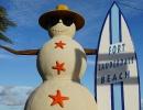 Umělý sněhulák na Floridě