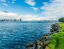 Zátoka u města Seattle ve státě Washington