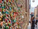 Žvýkačková stěna v americkém městě Seattle