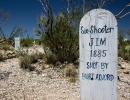 Náhrobky v Tombstone v Arizoně