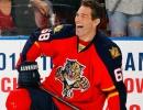 Jágr v červeném dresu Floridy Panthers