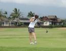 Laura na golfu při studiu v USA