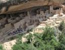 Indiánské stavby v Mesa Verde, stát Colorado