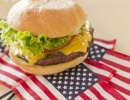 Vlajka USA a cheesburger